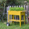 Herstera Urban Gartentrolley senfgelb 75x35x80cm