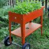 Herstera Urban Gartentrolley rot 75x35x80cm